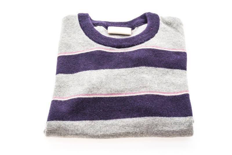 Camicia e abbigliamento del maglione della lana fotografie stock libere da diritti
