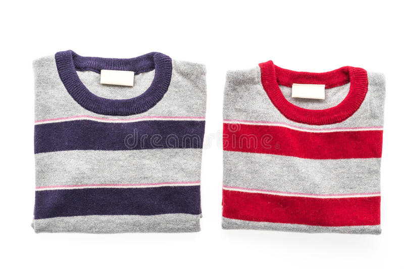 Camicia e abbigliamento del maglione della lana fotografia stock libera da diritti