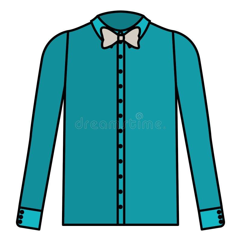 Camicia elegante con la cravatta a farfalla illustrazione vettoriale