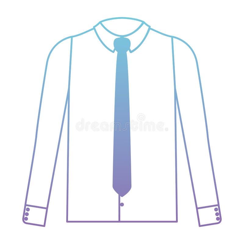 Camicia elegante con la cravatta royalty illustrazione gratis