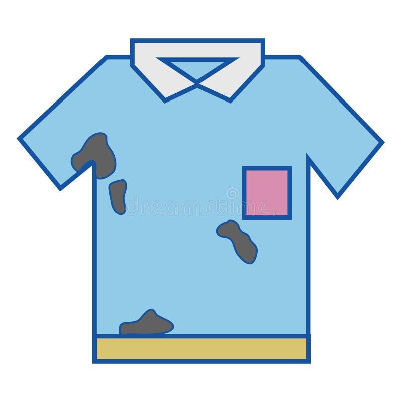 Camicia elegante con le macchie della sporcizia illustrazione di stock