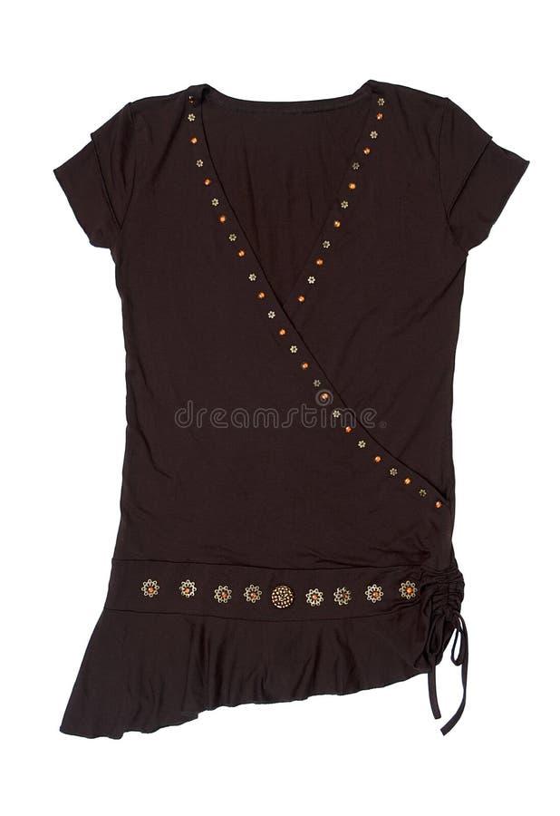 Camicia femminile nera immagini stock
