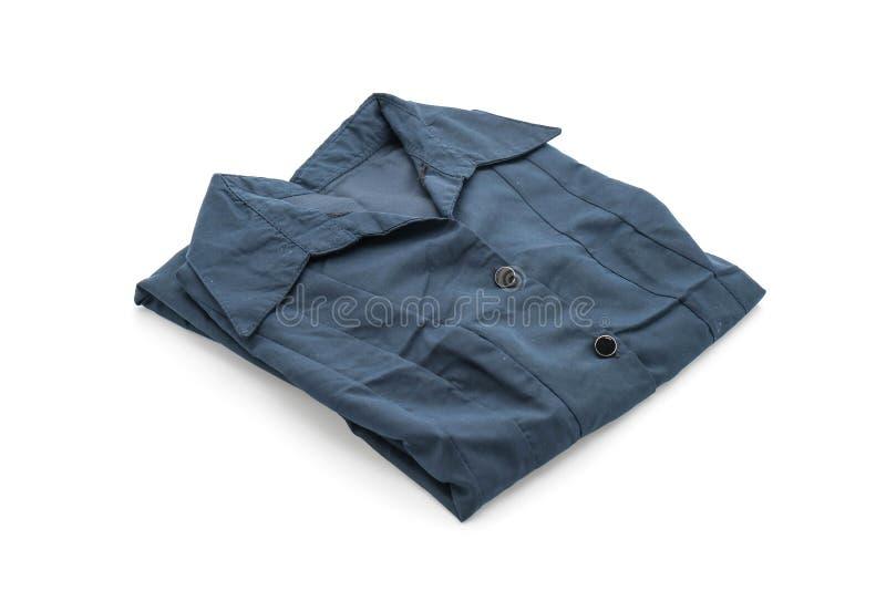 camicia maglietta piegata su bianco immagini stock