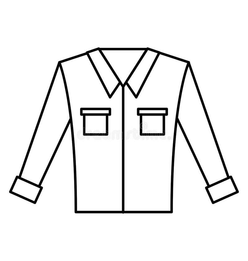 Camicia a maniche lunghe del ` s degli uomini royalty illustrazione gratis