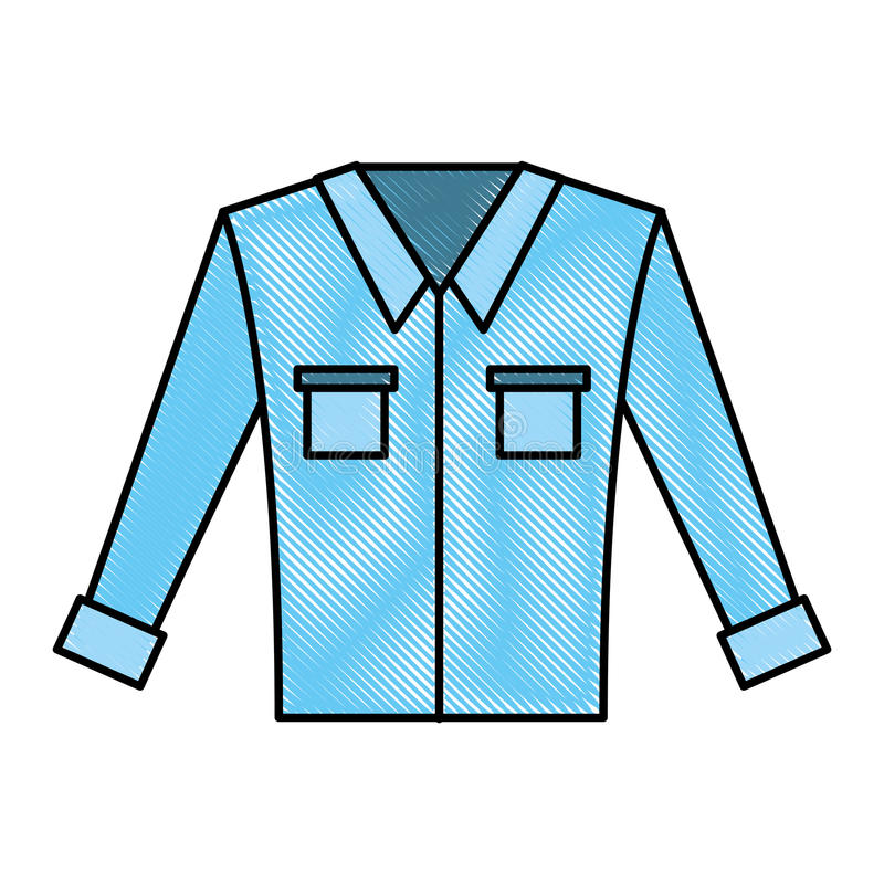 Camicia a maniche lunghe del ` s degli uomini illustrazione vettoriale