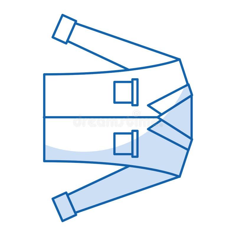 Camicia a maniche lunghe del ` s degli uomini illustrazione di stock