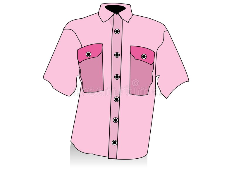 Camicia mezza royalty illustrazione gratis