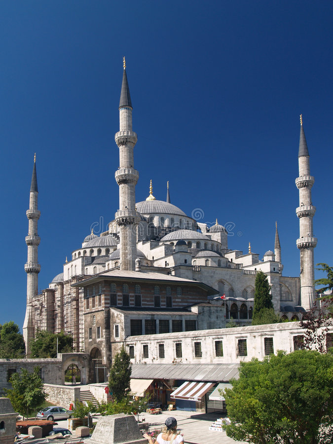 Camii van Ahmet van de sultan. Beroemdst als Blauwe moskee. stock foto's