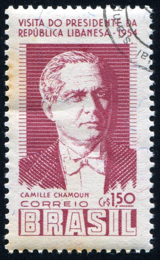 Camille Chamoun of Lebanon royalty free stock image