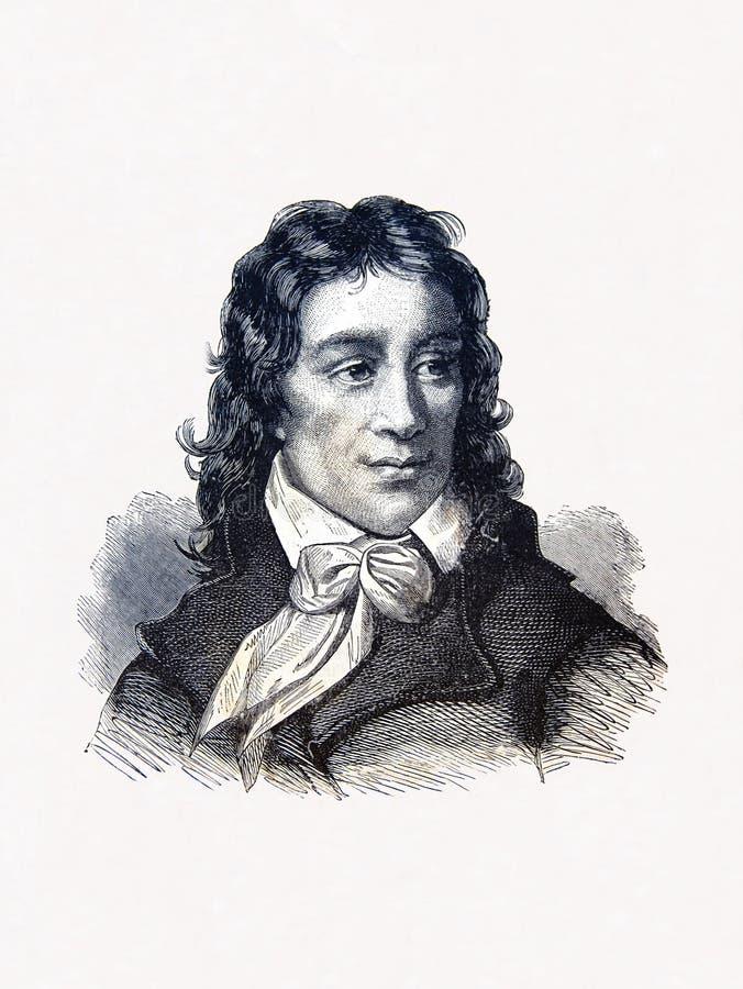 Camille Desmoulins, French revolutionary vector illustration