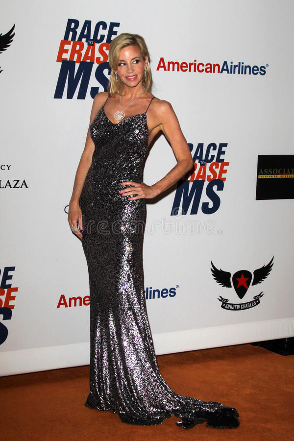 Camille Grammer Arrives At The 19th Annual Race To Erase MS Gala Editorial Photography