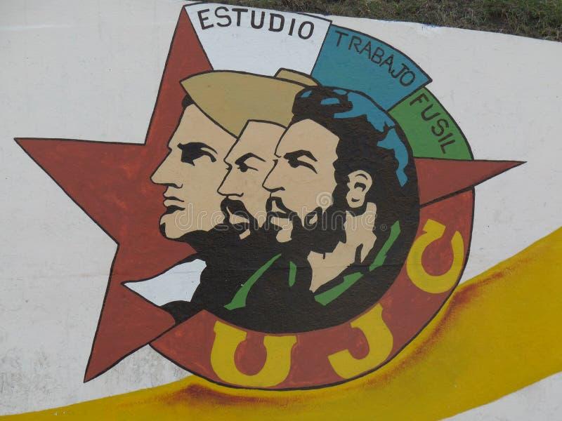 Camillo, Fidel, Che zdjęcie stock