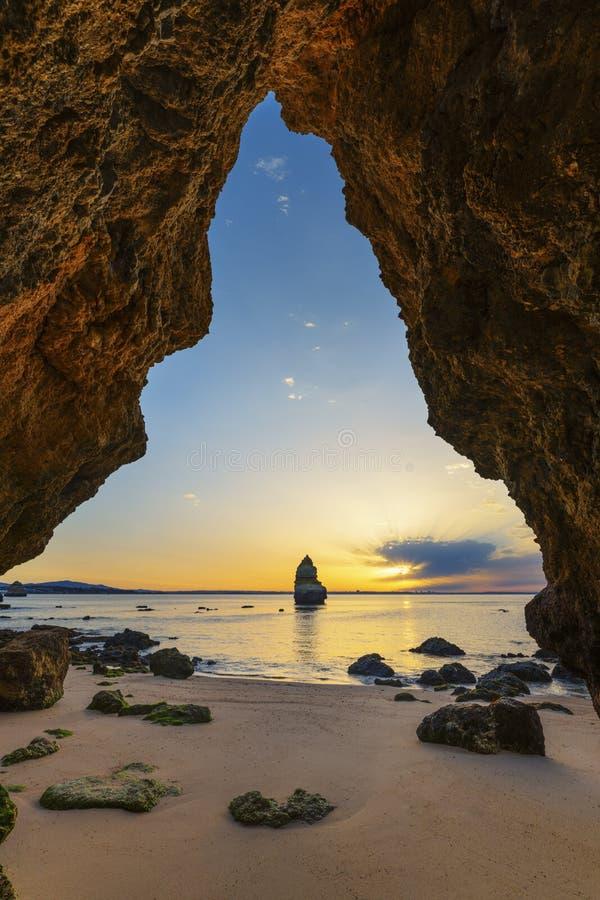 Camilo beach at sunrise stock photography