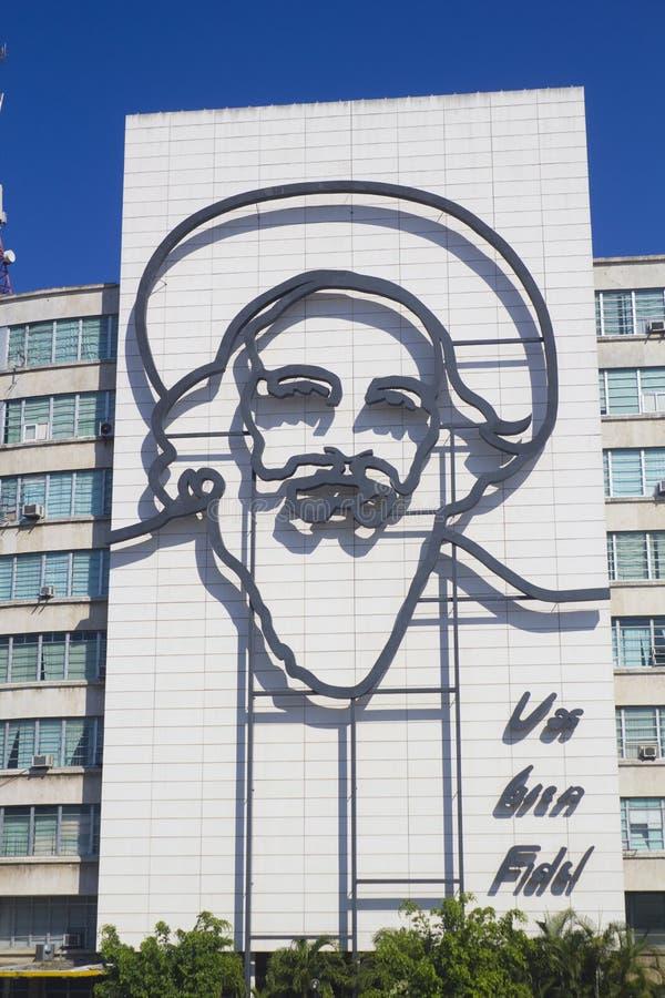 Camilo Cienfuegos in Plaza DE La Revolucion royalty-vrije stock foto