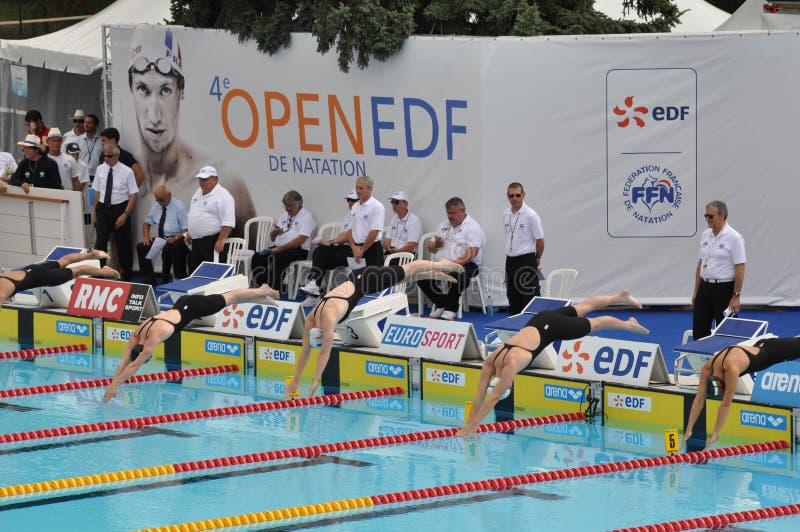 Camilo Muffat, FED aberto 2010 imagens de stock