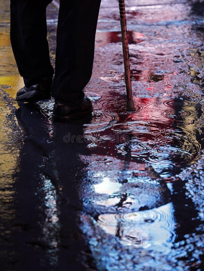 Caminando en la noche, Nueva York Time Square foto de archivo