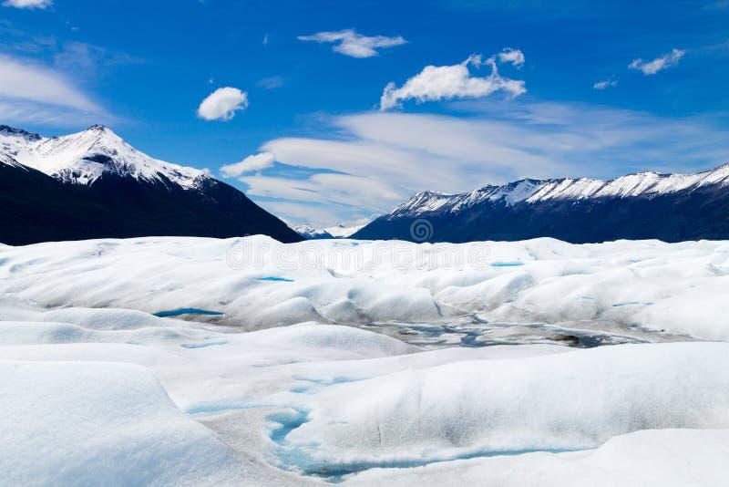 Caminando en Patagonia del glaciar de Perito Moreno, la Argentina imágenes de archivo libres de regalías