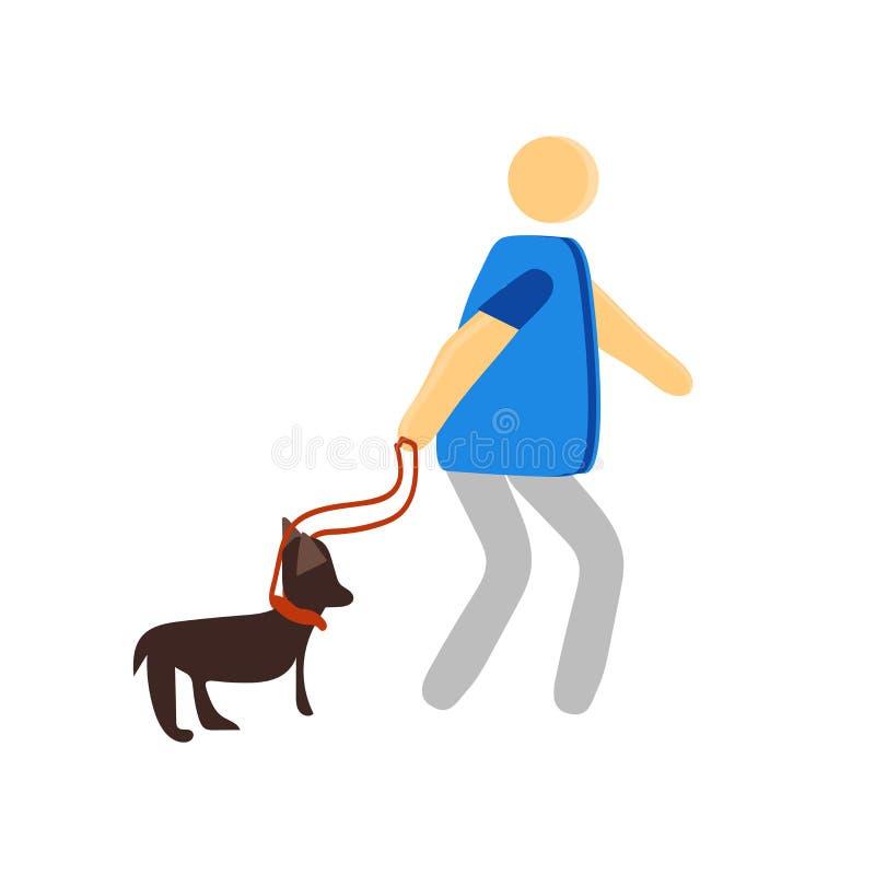 Caminando la muestra y el símbolo del vector del icono del perro aislados en el fondo blanco, caminando el concepto del logotipo  libre illustration