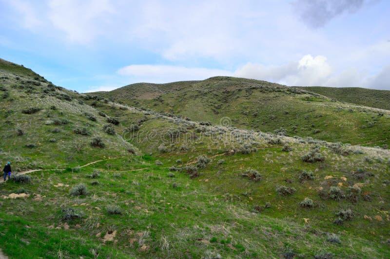 Caminante Boise Idaho Foothills imagenes de archivo