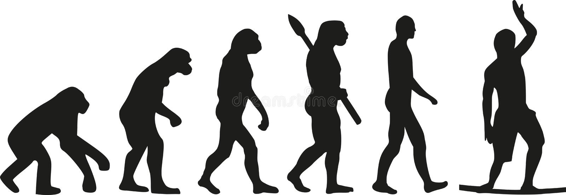 Caminante del alambre de la evolución de Slackline stock de ilustración