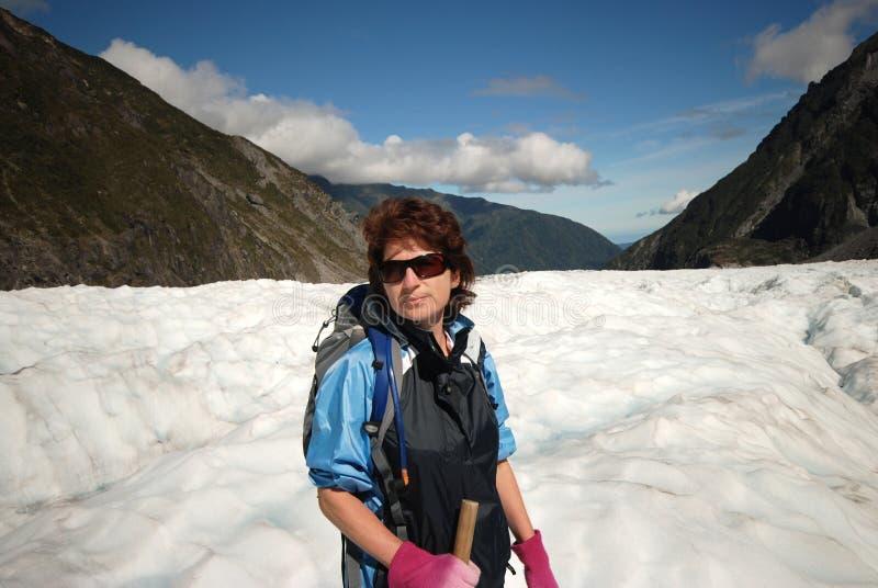 Caminar el glaciar del Fox. imágenes de archivo libres de regalías