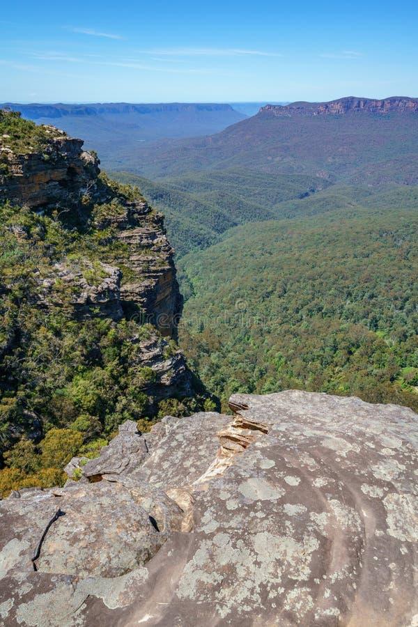 Caminar el paseo del acantilado del Henrio del príncipe, montañas azules, Australia 36 imagen de archivo