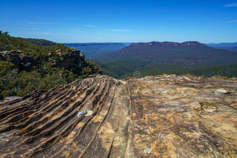 Caminar el paseo del acantilado del Henrio del príncipe, montañas azules, Australia 33 fotos de archivo
