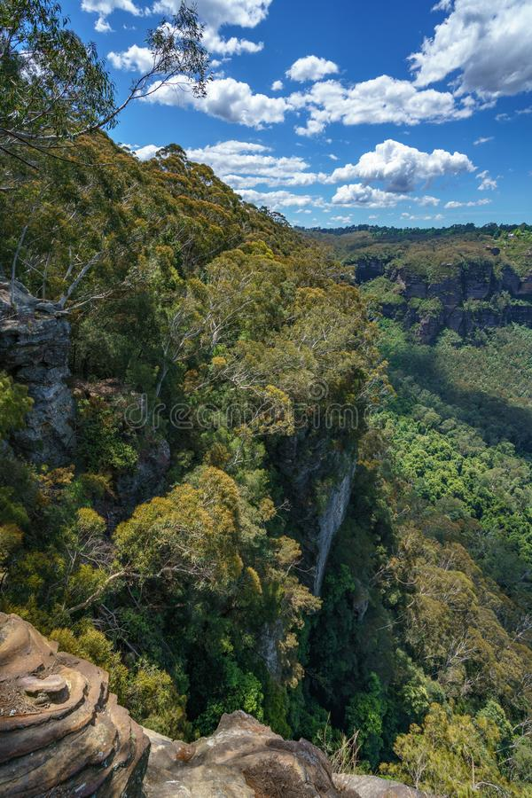 Caminar el paseo del acantilado del Henrio del príncipe, montañas azules, Australia 55 fotos de archivo libres de regalías