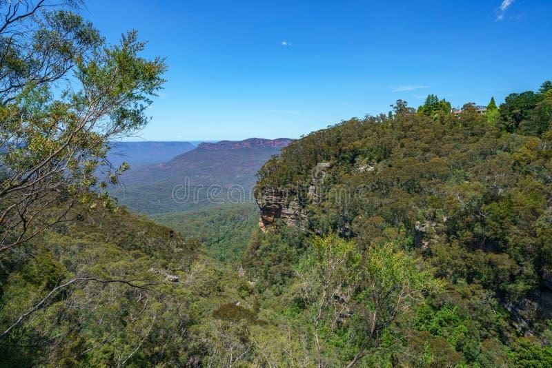 Caminar el paseo del acantilado del Henrio del príncipe, montañas azules, Australia 39 imagen de archivo