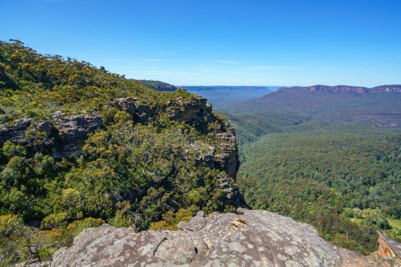 Caminar el paseo del acantilado del Henrio del príncipe, montañas azules, Australia 18 imagen de archivo libre de regalías
