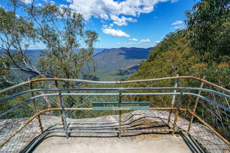 Caminar el paseo del acantilado del Henrio del príncipe, montañas azules, Australia 56 fotografía de archivo