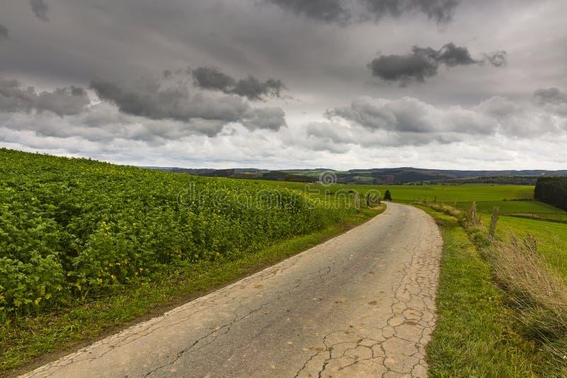 Caminar el rastro GR5 en el Benelux imagen de archivo