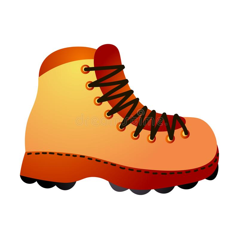 Caminar la bota colorida, color amarillo rojo, impermeable stock de ilustración