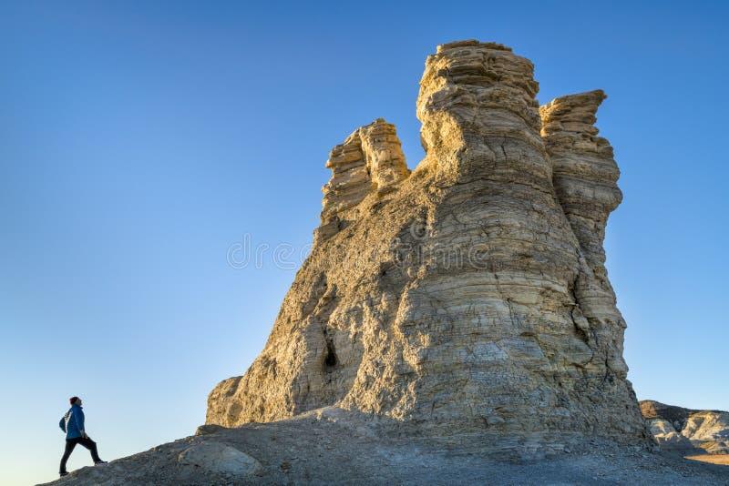 Caminar la formación de roca en el castillo oscila en Kansas fotos de archivo libres de regalías