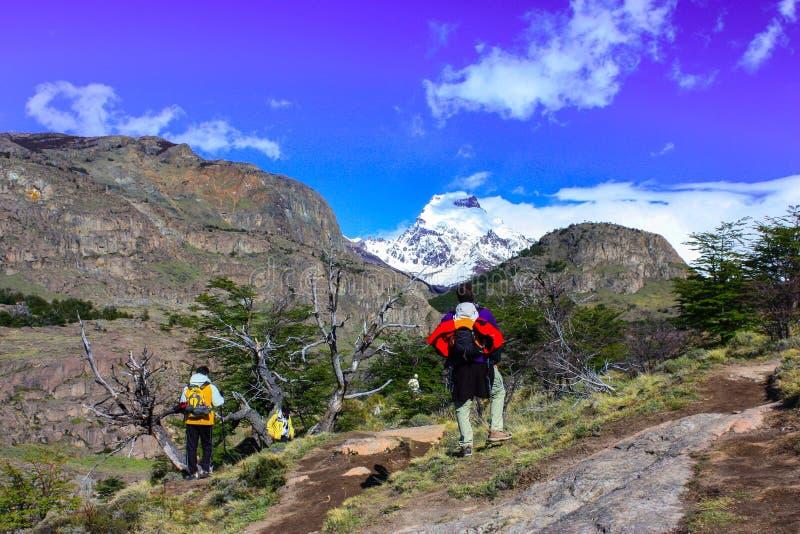 Caminar Patagonia foto de archivo libre de regalías