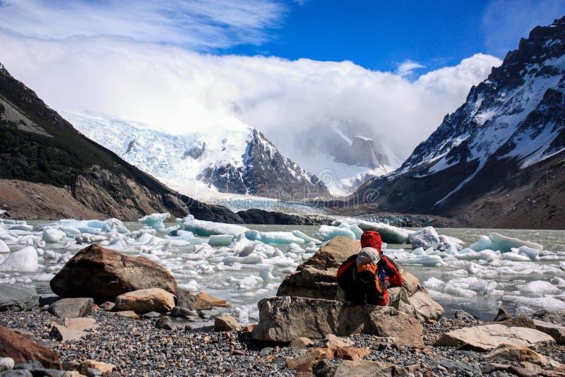 Caminar Patagonia imagen de archivo
