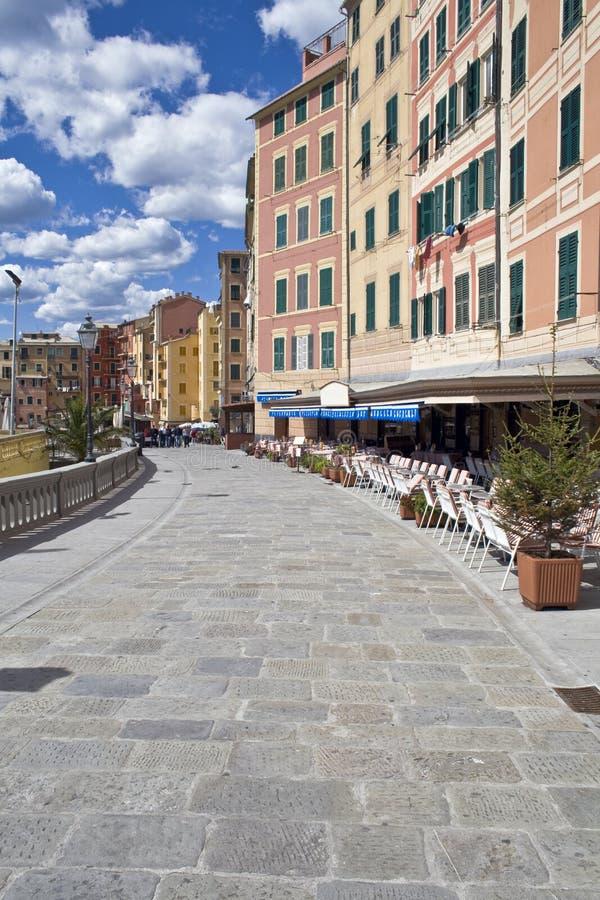Caminata, camogli, Italia foto de archivo