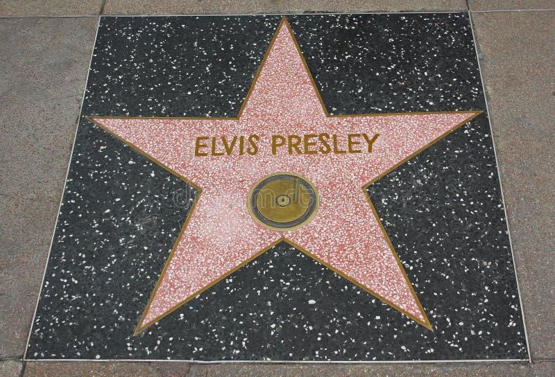 Caminata de la fama - Elvis Presley de Hollywood fotografía de archivo libre de regalías