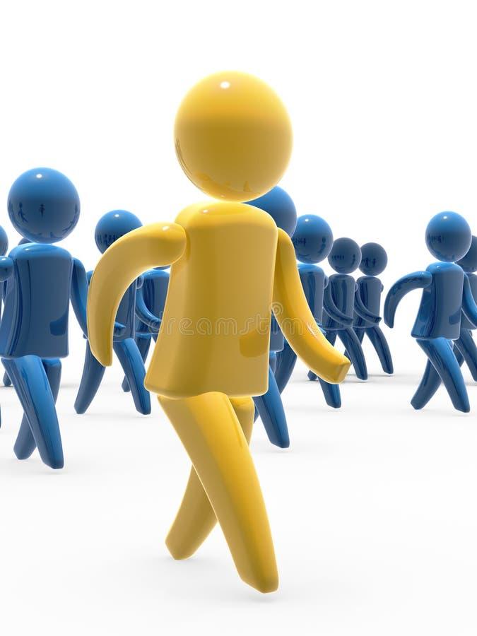 Caminata de las personas stock de ilustración