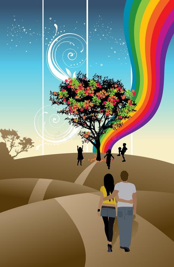 Caminata de los pares libre illustration