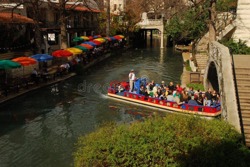 Caminata del río en San Antonio, Tejas fotos de archivo libres de regalías