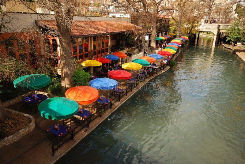 Caminata del río en San Antonio, Tejas imágenes de archivo libres de regalías