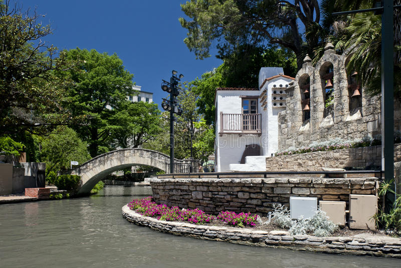 Caminata del río, San Antonio, Tejas fotografía de archivo libre de regalías