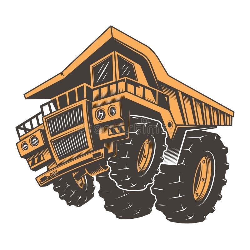 Caminhão agressivo enorme da construção ilustração royalty free