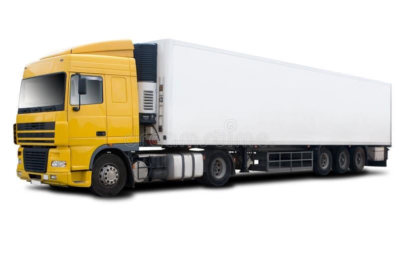 Caminhão amarelo fotos de stock