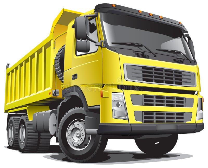 Caminhão amarelo de Lagre ilustração do vetor
