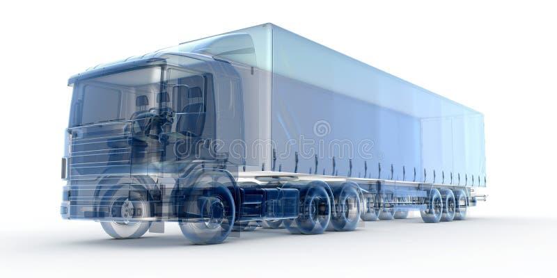 Caminhão azul do raio X ilustração royalty free