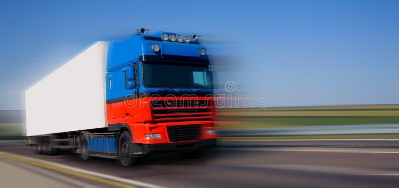 Caminhão azul vermelho foto de stock royalty free