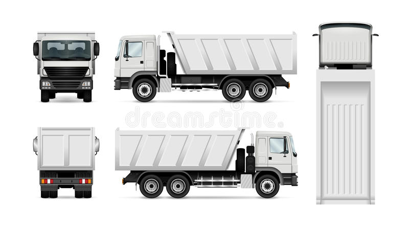 Caminhão basculante do vetor ilustração do vetor