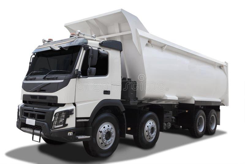 Caminhão basculante grande com sombra imagens de stock